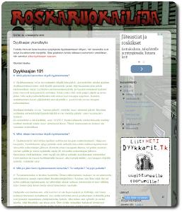Kuvakaappaus Roskaruokailija-blogista.