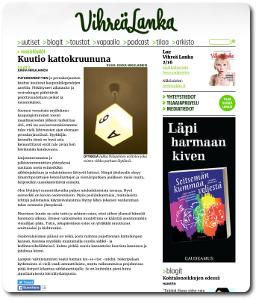 Kuvakaappaus Roskislöydöt-blogista.
