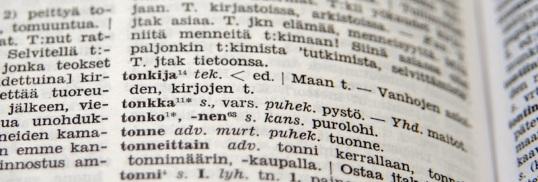"""Ote Nykysuomen sanakirjasta sanan """"tonkija"""" kohdalta."""